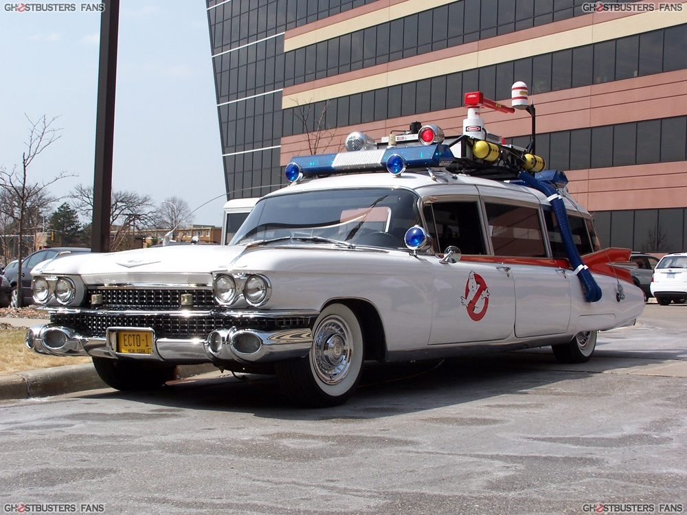 The ecto 1 the historical and mythical official car of the