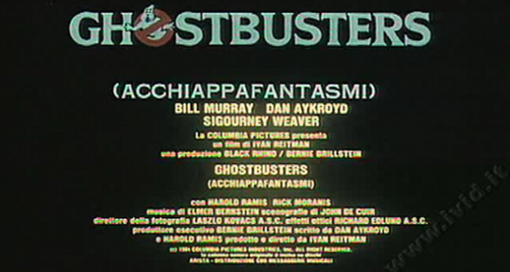Trailer italiano Ghostbusters 1984