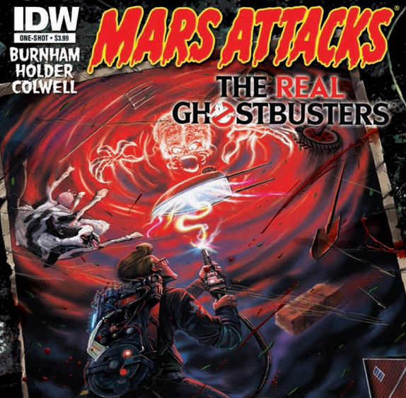 Comics: IDW Mars Attacks vs The Real Ghostbusters anteprima!