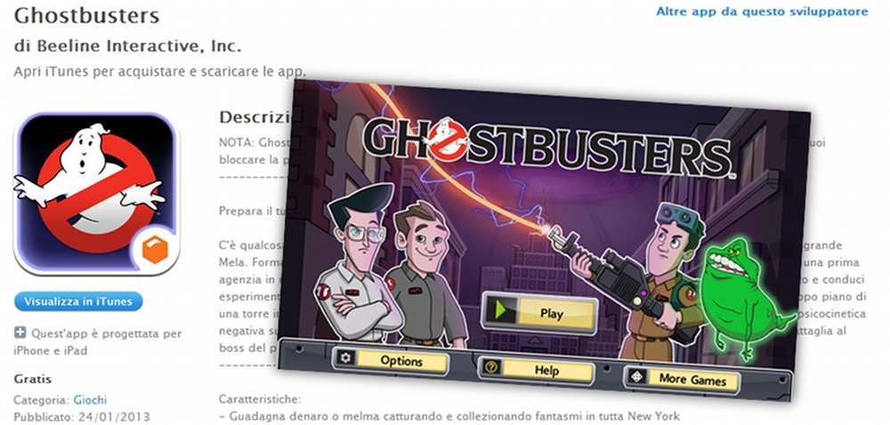 Disponibile nuovo Ghostbusters game per iOS della Beeline!