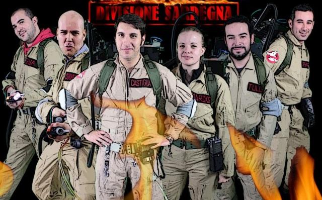 """Fan film: Locandina ufficiale di """"Ghostbusters Italia – Divisione Sardegna"""""""