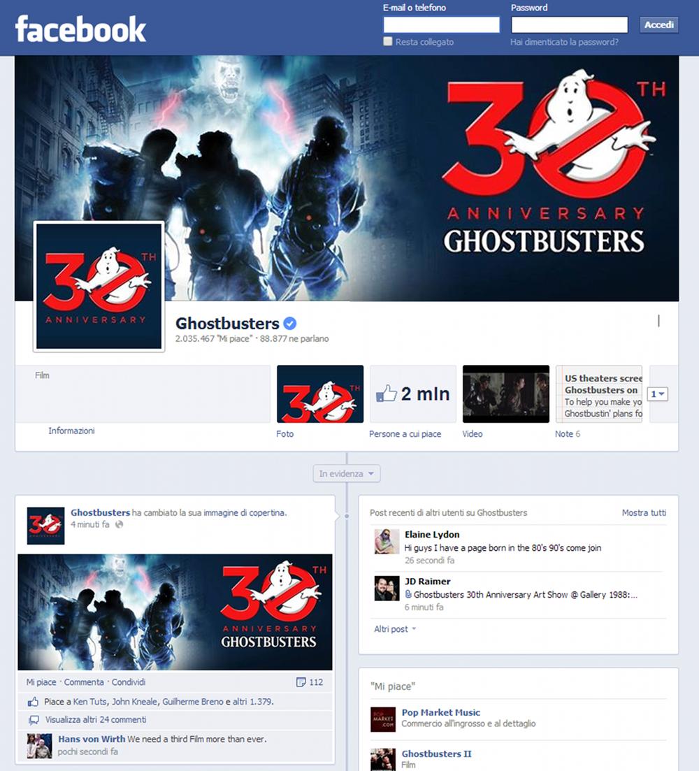 Logo 30 anniversario sulla pagina ufficiale di gb su for Facebook logo ufficiale