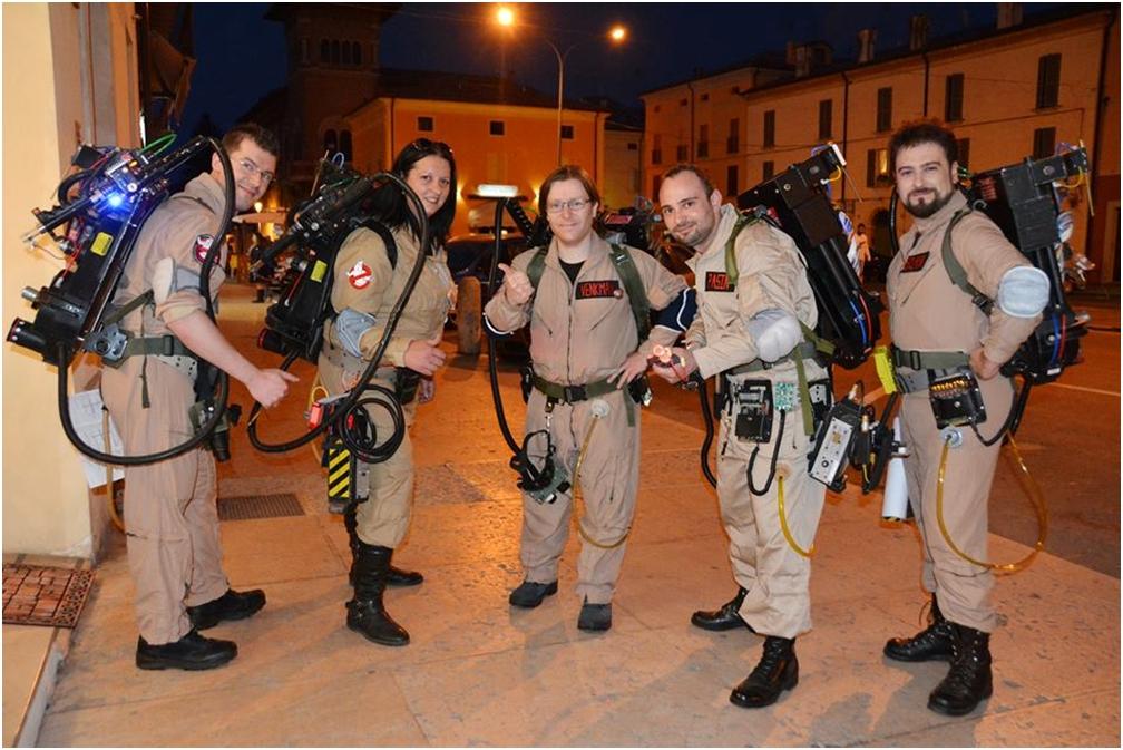 Nella foto, i partecipanti di Ghostbusters Italia alla serata del 10 maggio 2014, Finale Emilia (MO).