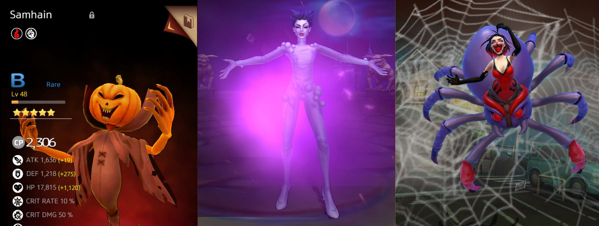 In foto: Samhain (The Real Ghostbusters), Gozer (Ghostbusters 1984), Strega dei ragni (Ghostbusters: The video game)